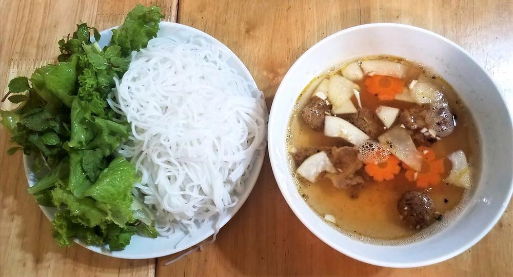 Bun cha, noodles and soup