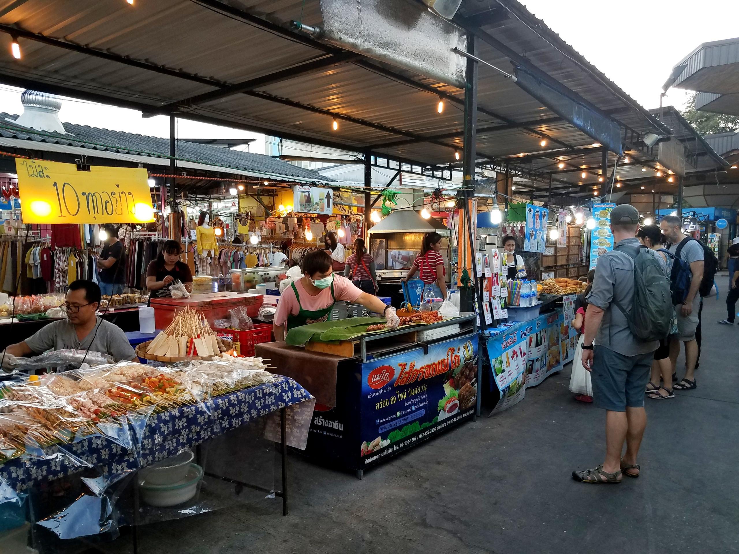 Night market scene in Chiang Mai