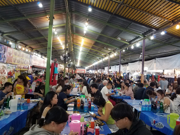 Night Market food stalls in Chiang Mai