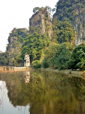 View of the entrance of Bich Dong Pagoda, Ninh Binh.