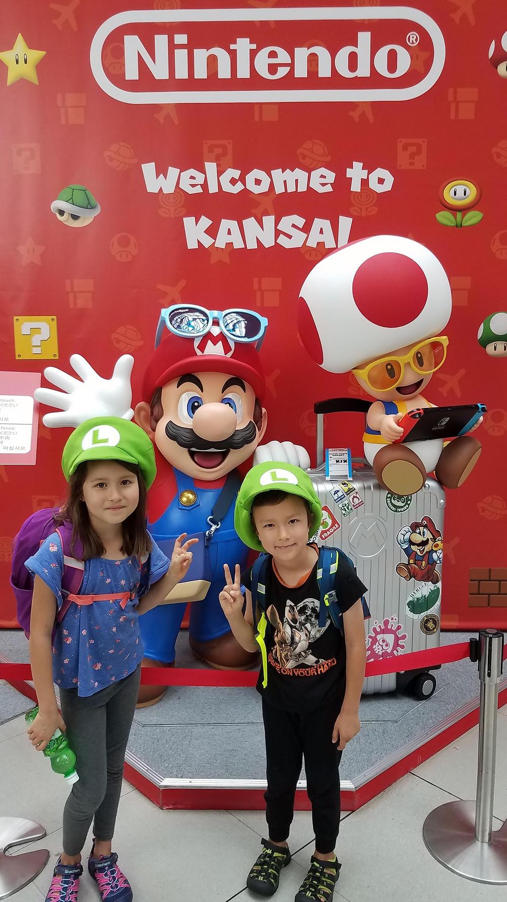 Nintendo photo op, Kansai Airport, Osaka, Japan