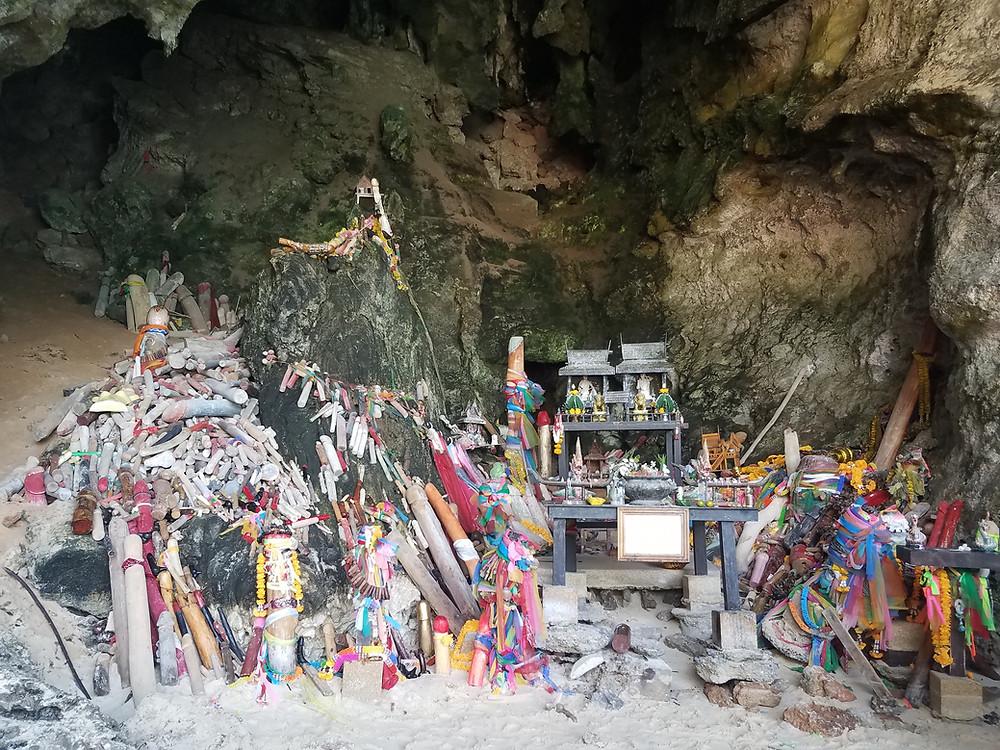 Phra Nang Cave, at Railay Beach, Krabi