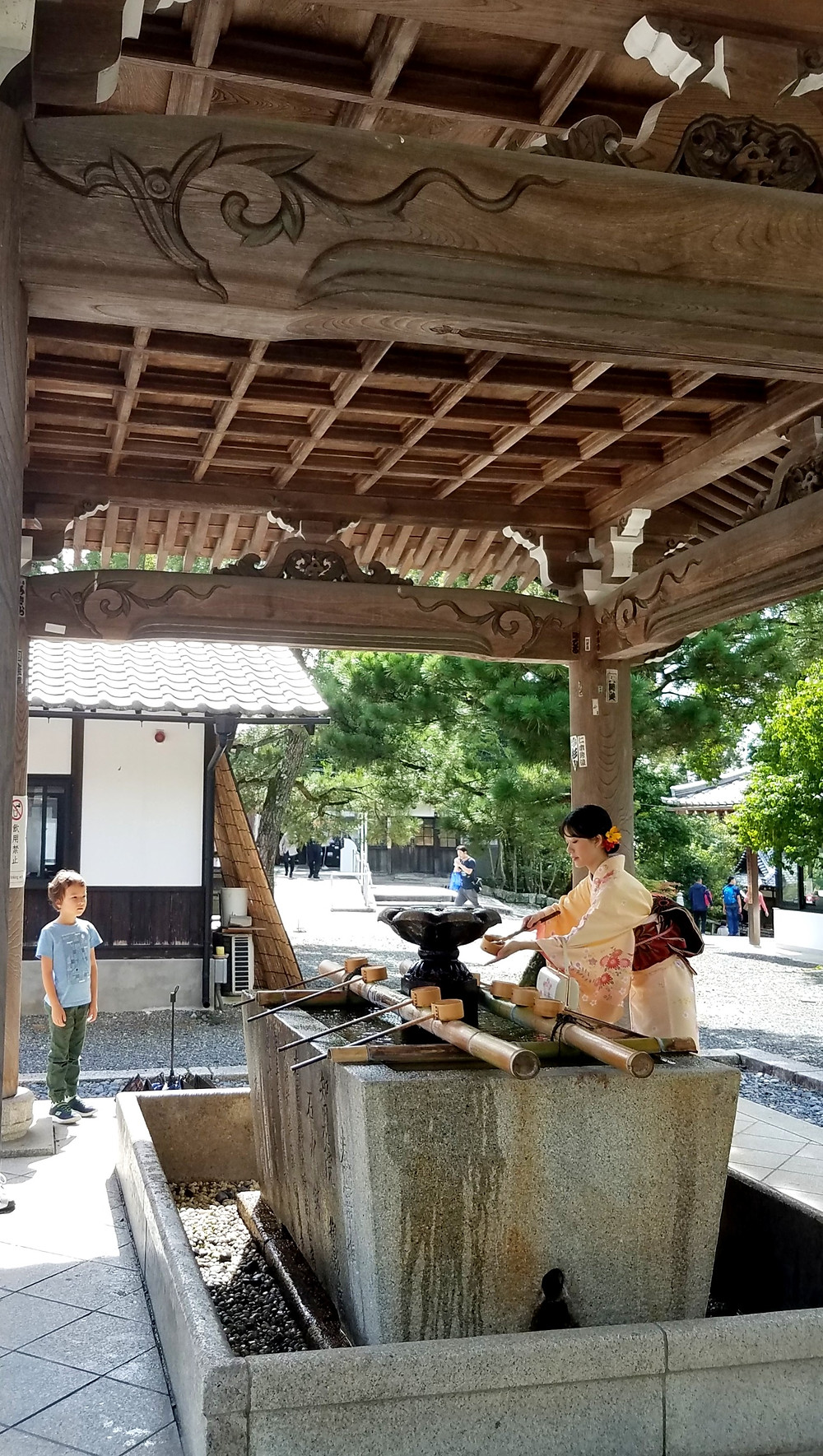 water cleansing ritual, Chionin Temple, Kyoto, Japan