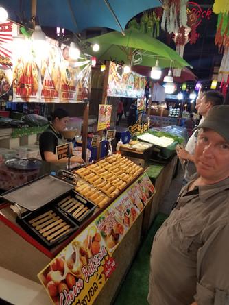 Night market eating throughout Thailand
