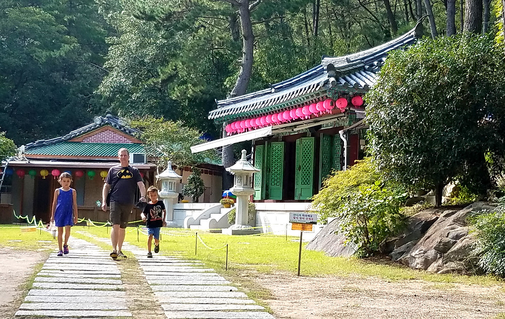 Korean temple in the mountains