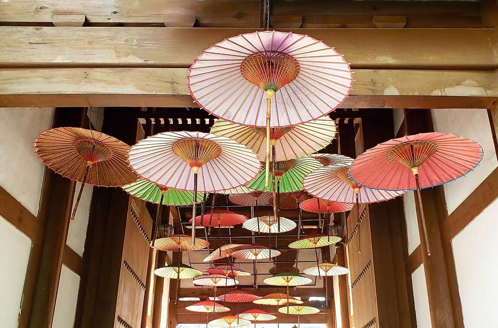 Jeonju, South Korea, floating umbrellas