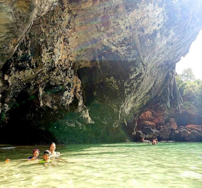 Beautiful caves near Phra Nang Beach, Krabi, Thailand