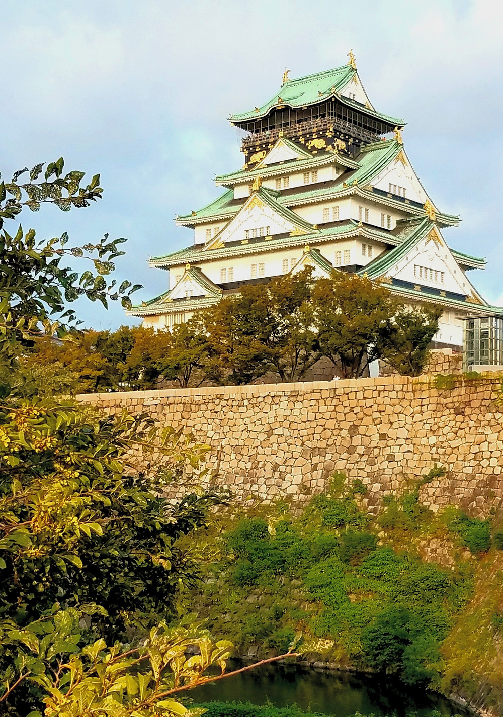 The famous landmark of Japan, Osaka Castle.
