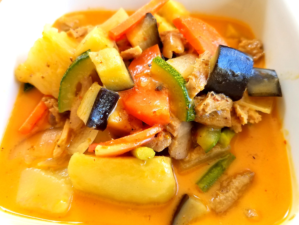 Massaman vegetable curry from Nic's Restaurant in Chiang Mai, Thailand