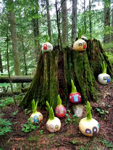 Cute sculptures at the Enchanted Forest, B.C.