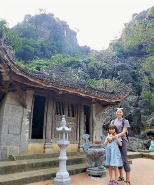 Temples in Bich Dong Pagoda
