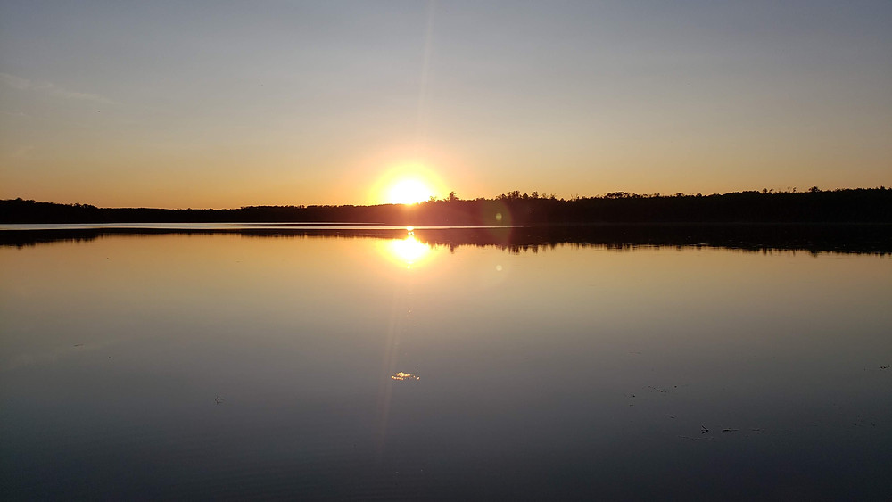 Sunset while camping at Moose Mountain Provincial Park, Saskatchewan