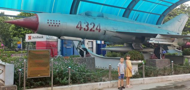 Kids at the military history museum in Hanoi, Vietnam.
