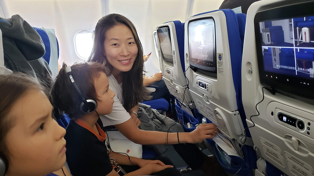 Flying China Eastern Airlines with kids