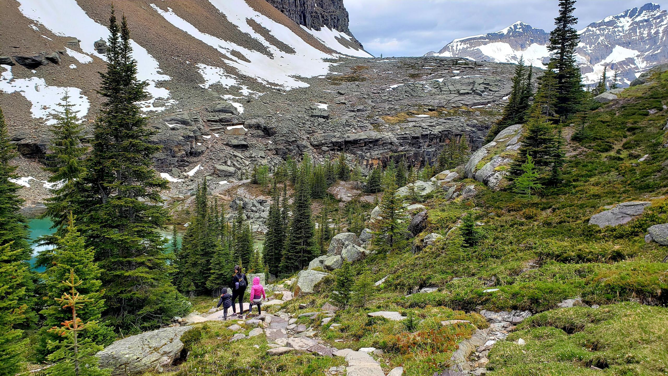 Hiking in the Canadian Rockies, Lake Oesa Trail, Yoho National Park, B.C.