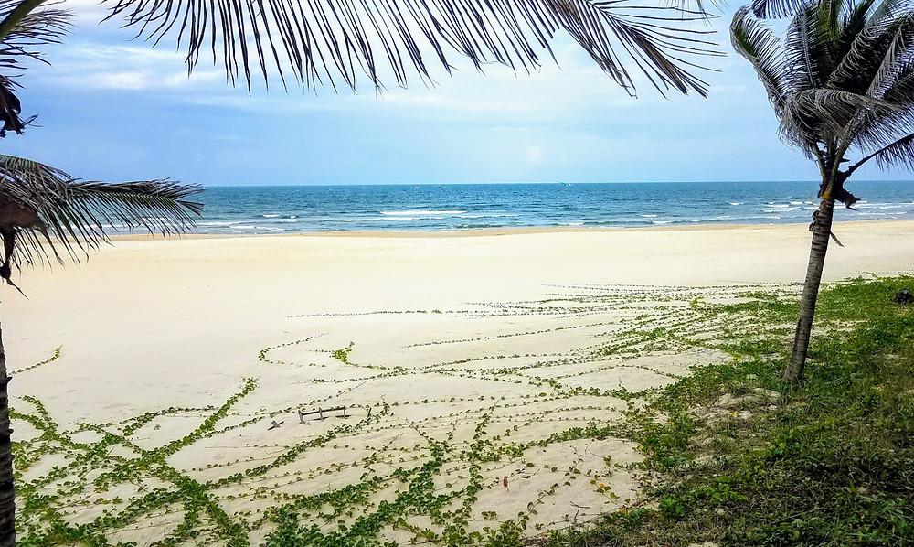 Empty beach in Danang, Vietnam