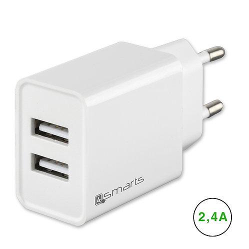 4smarts Netzladegerät VoltPlug Dual 12W weiß