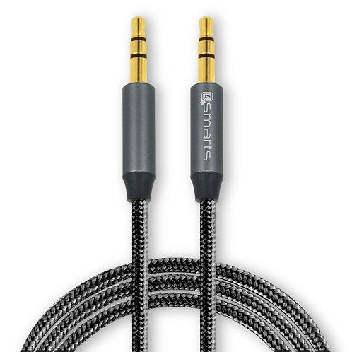 4smarts 3,5mm Stereo Audio Kabel SoundCord 1m textil schwarz