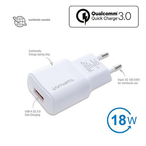4smarts Netzladegerät VoltPlug QC3.0 18W mit Quick Charge weiß