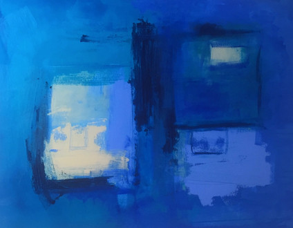 Blue Haze Acrylic on Canvas Size: 100 x 80cm Sold