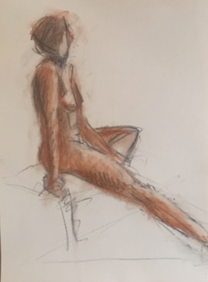 Conte and Charcoal on Paper
