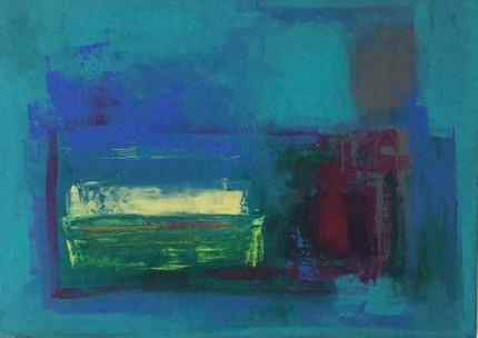 Less than Zero Acrylic on Canvas Size: 42 x 60cm