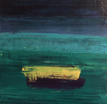 Stripe Acrylic on Canvas Size: 50 x 50cm