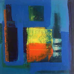 Patchwork Acrylic on Board Size: 30 x 30cm Sold