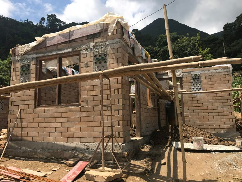 Earthquake-relief-house-under-constructi