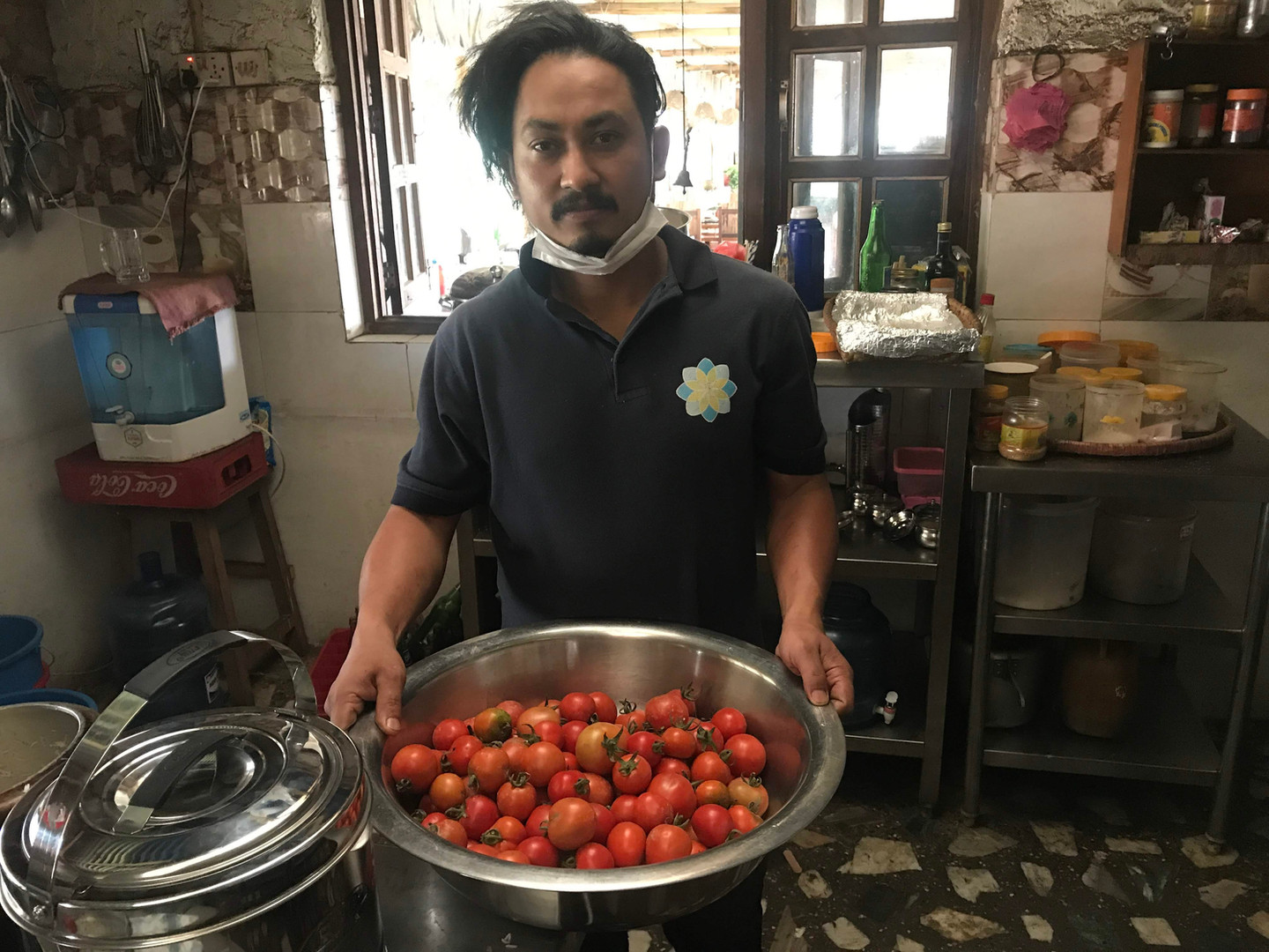 Our Chef and Biodynamic tomatoes..jpg