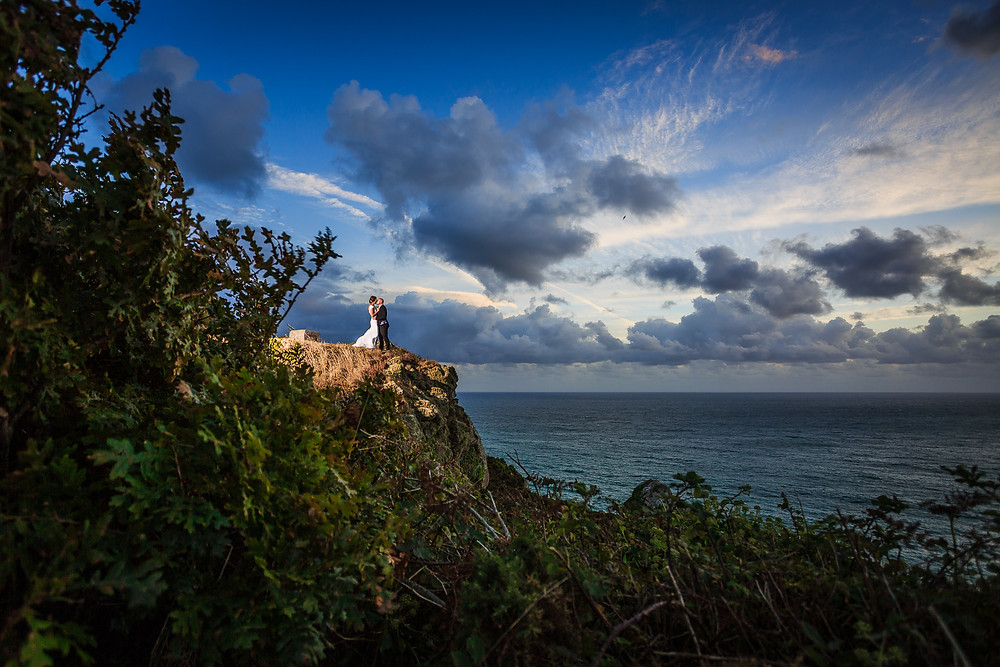 The edited image, captured by Evoke Wedding Photography (Guernsey)