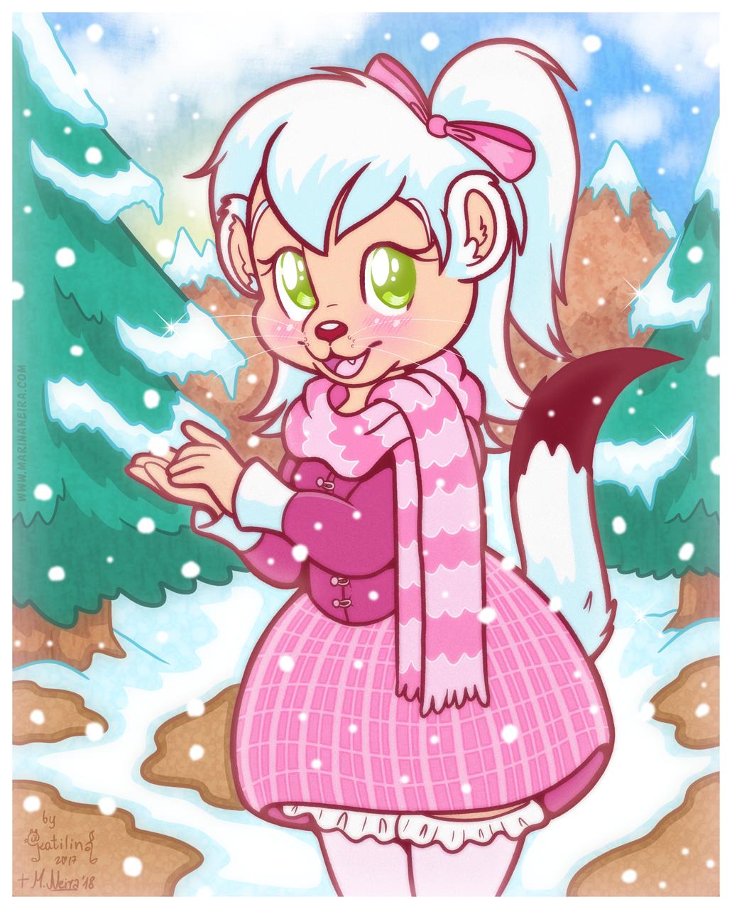 Darla on a Snowy Day