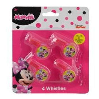 Minnie 4pk Mini Whistle