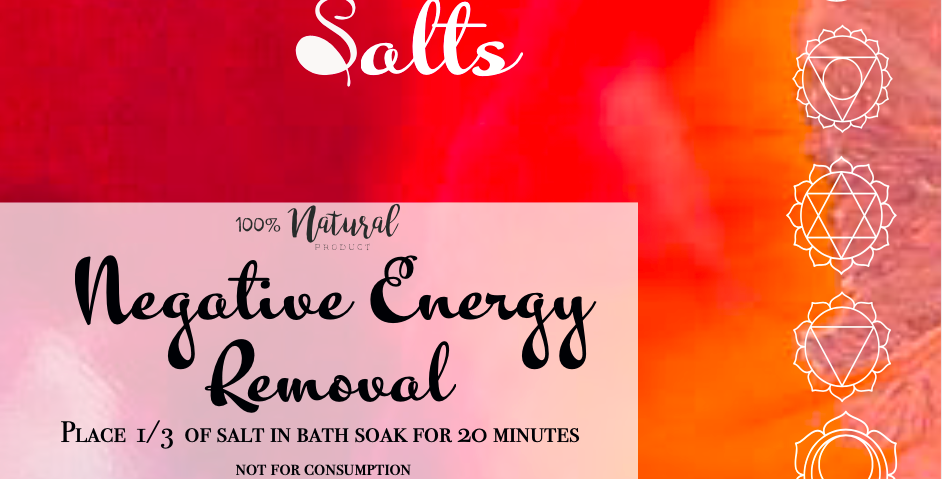 Negative Energy Removal Bath Salts