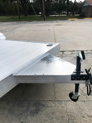 Car Haulers with Aluminum Tongue Deckover with Intergrated Winch Plate