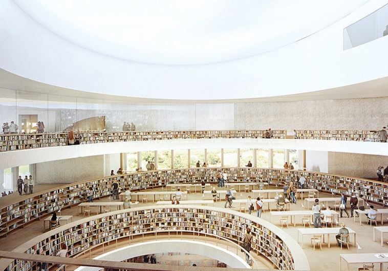Artists impression of the new library (photo credit:HERZOG AND DE MEURON ARCHITECTS)