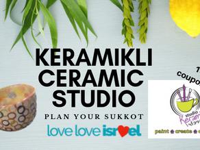 Plan Your Sukkot with LoveLoveIsrael: KeramiKli Ceramic Studio