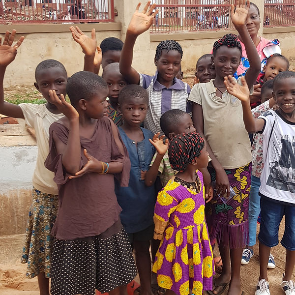 Some of the children with Pastor Lynda at our first outing in Nsukka