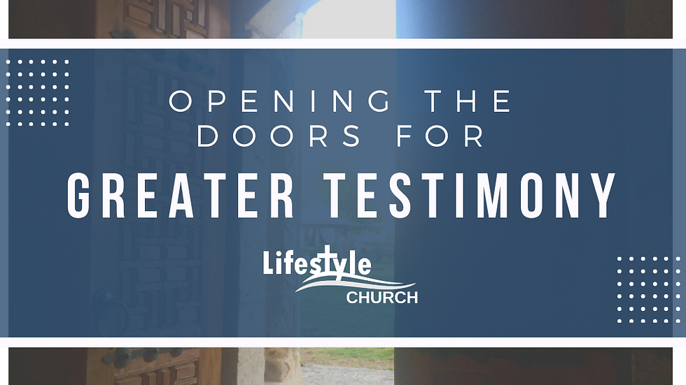 Opening the Doors for Greater Testimony