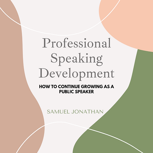 Professional Speaking Development