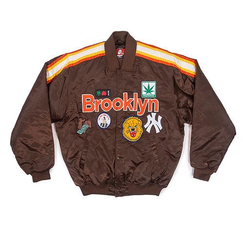 """DA 5 """"Brooklyn All star""""  Ny Varsity Jacket with Back Design"""