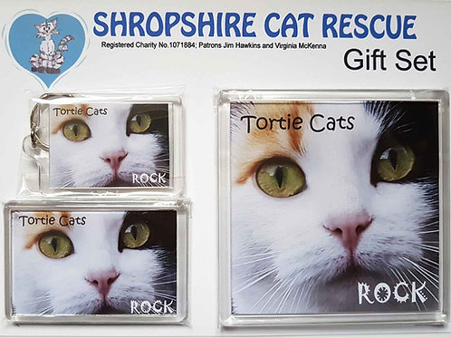 Tortie and White Cats Gift Sets