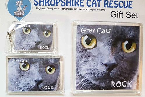 Grey Cats Gift Set
