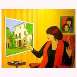 DA BIN I AUCH DAHOAM (3 xPortrait) 100 x  80 cm, 12.2012
