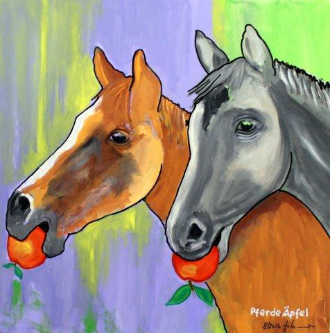 Pferde Äpfel  60 x 60cm, 08/16
