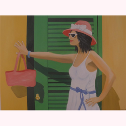 Sommer Pause (Die Raucherin) 100 x 80cm,  3.2010