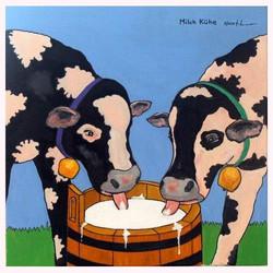 Milch Kühe 70 x 70 cm, 3.2014