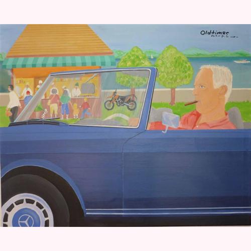 Oldtimer (Portrait) 100 x 80 cm, 3.2011