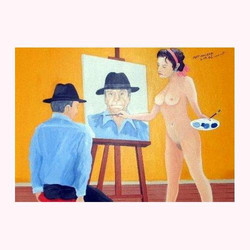 Akt-Malerei 100 x 100 cm, 2.2009