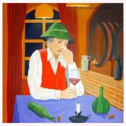 Der Weinbauer 80 x 80 cm, 09.2013
